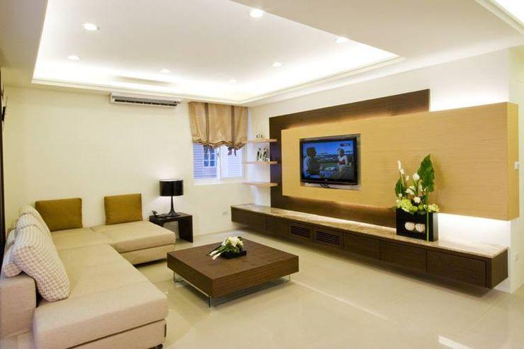 客廳電視牆 Hi+Design/Interior.Architecture. 寰邑空間設計 Living room