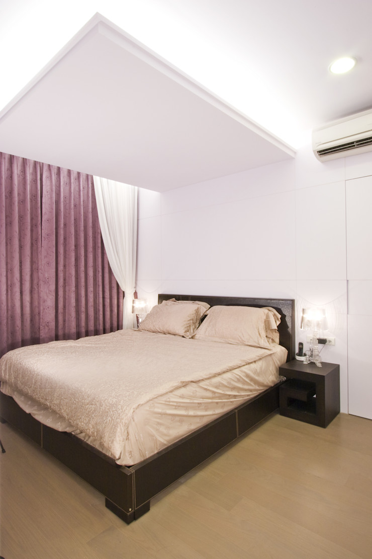 主臥室-1 Hi+Design/Interior.Architecture. 寰邑空間設計 Eclectic style bedroom