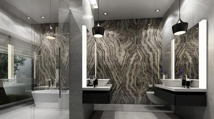 SA Architects and Partners Ванная комната в стиле модерн
