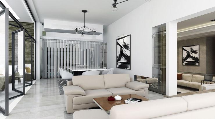 SA Architects and Partners Столовая комната в стиле модерн
