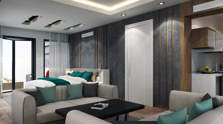 SA Architects and Partners Спальня в стиле модерн