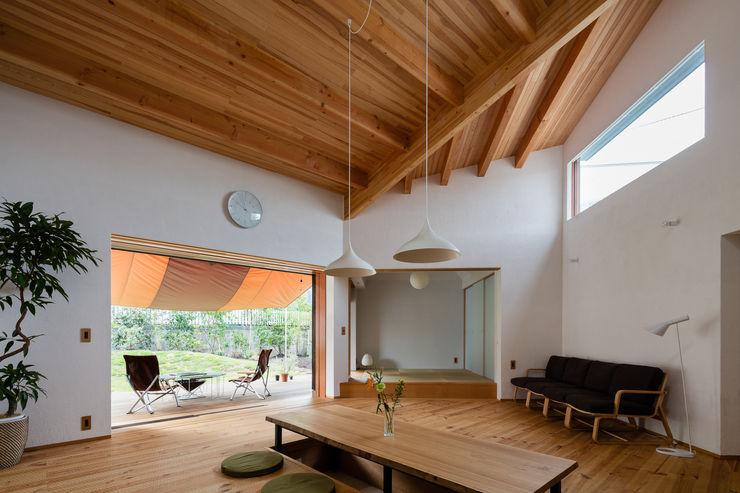 1F LDK 内海聡建築設計事務所 和風デザインの リビング