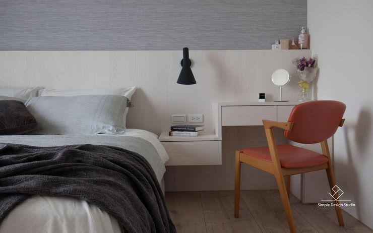 新竹-日知味:自友章-吳宅 極簡室內設計 Simple Design Studio 臥室
