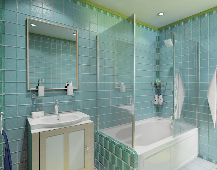 Boys' Bathroom Ravenor's Design Solutions Modern bathroom Blue