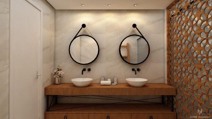 Nuriê Viganigo Rustic style bathroom