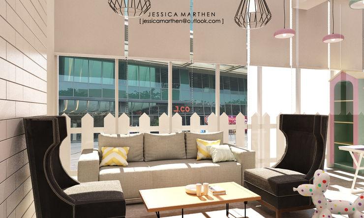 JESSICA DESIGN STUDIO Scandinavian style living room