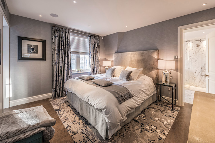 Master en-suite RBD Architecture & Interiors Classic style bedroom Grey