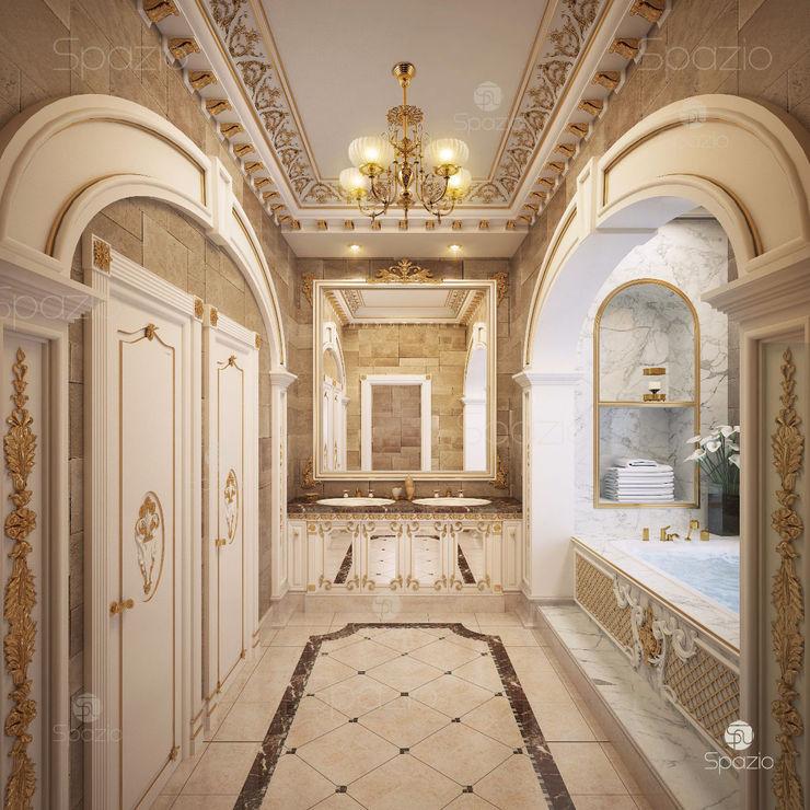 Spazio Interior Decoration LLC Ванна кімната Мармур Янтарний / Золотий