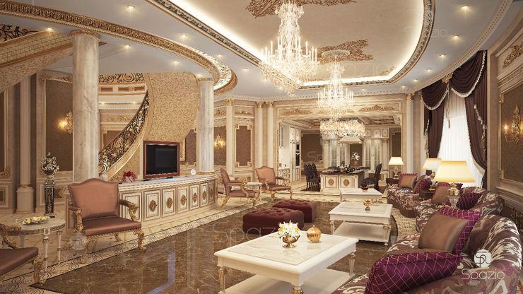 Spazio Interior Decoration LLC Вітальня Янтарний / Золотий