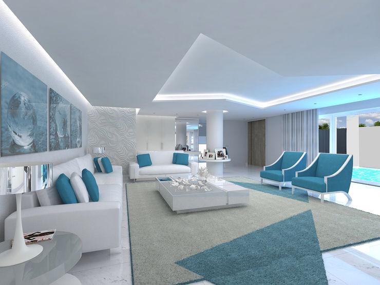 Sala de estar Enzo Rossi, Home Design Salas de estar minimalistas