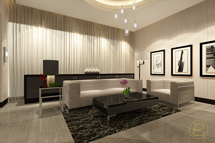 Teratai House Arci Design Studio Ruang Keluarga Modern