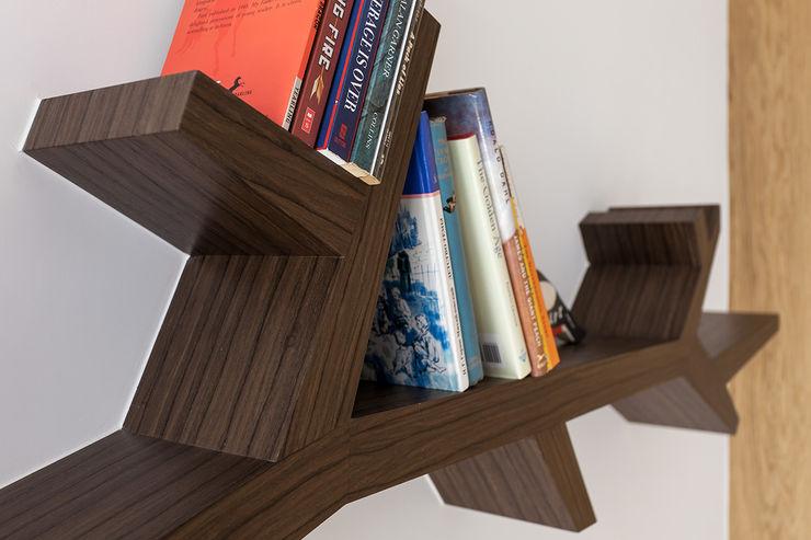 層板設計 禾光室內裝修設計 ─ Her Guang Design 書房/辦公室 Wood effect