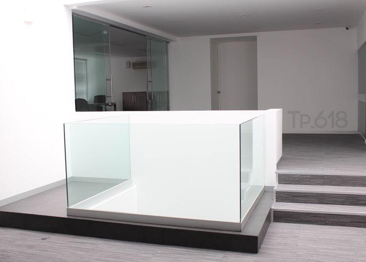 TP618 モダンスタイルの 玄関&廊下&階段 アルミニウム/亜鉛 白色
