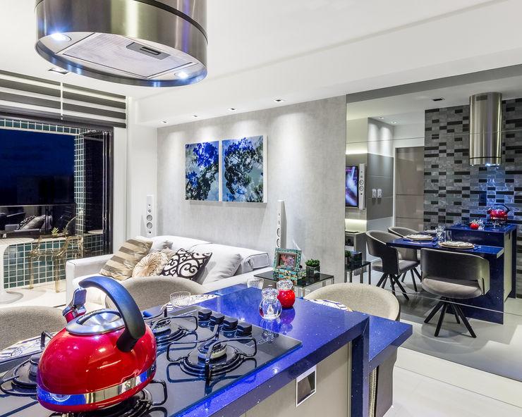 Gourmet   Estar Arquitetura Sônia Beltrão & associados Salas de jantar modernas Pedra Azul