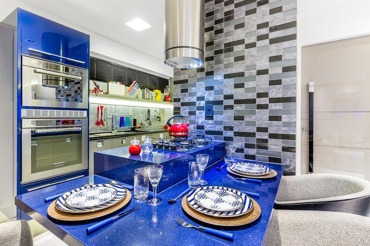 Detalhes Cozinha Gourmet Arquitetura Sônia Beltrão & associados Armários e bancadas de cozinha Pedra Azul