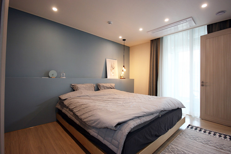 김포 32평 시공을 최소화한 새아파트 홈스타일링 homelatte 모던스타일 침실