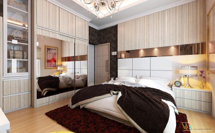 Widhendra interior Modern style bedroom Plywood Wood effect