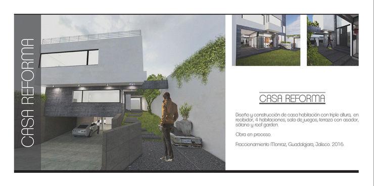 Arquimia Arquitectos Casas unifamiliares Concreto Blanco