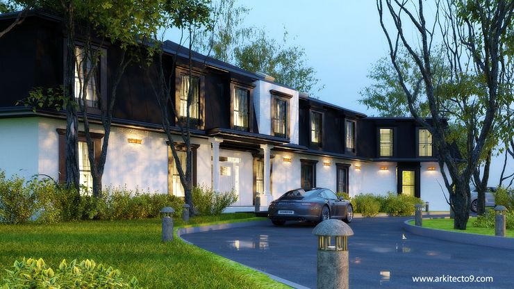 PROPUESTAS DE FACHADA arquitecto9.com Casas multifamiliares Piedra Negro