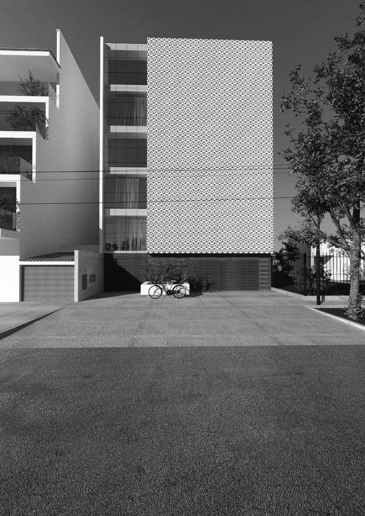 PROPUESTA DE DISEÑO Y CONSTRUCCIÓN - VIVIENDA MULTIFAMILIAR LA VICTORIA - CHICLAYO CN y Arquitectos Casas multifamiliares Hormigón reforzado Blanco