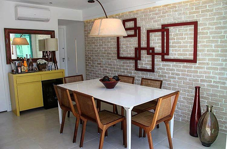 Guaraúna Revestimentos Modern dining room
