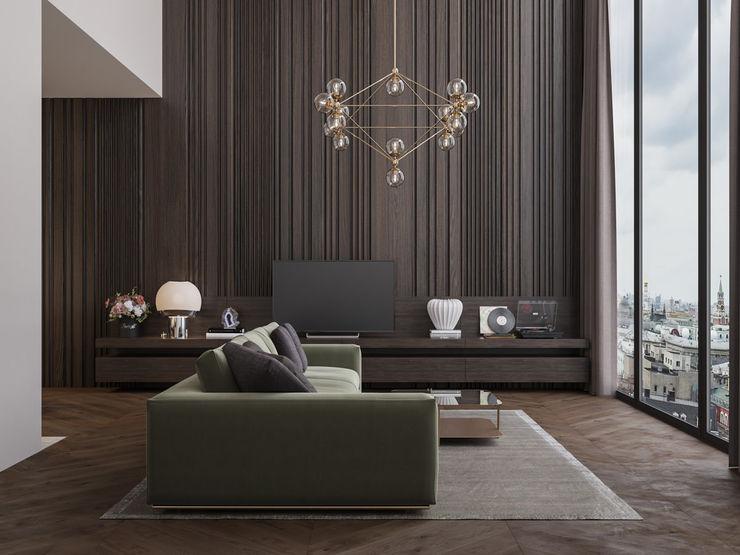 Appartamento di 98 mq uso affitto di lusso Archventil - Architecture and Design Studio Soggiorno moderno