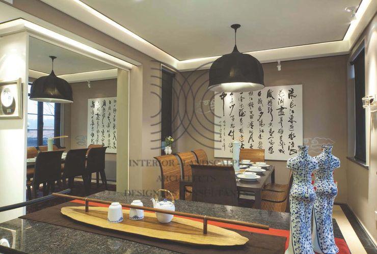 亦中亦西的自在風格│ 餐廳 大真室內裝修設計有限公司 餐廳 實木 Wood effect