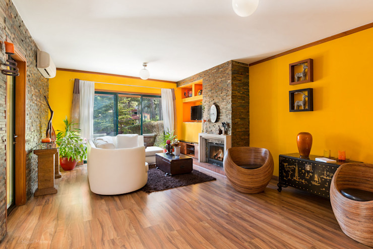 Moradia Mira Villas Miguel Marnoto - Fotografia Salas de estar modernas