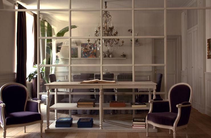 Andrea Rossini Architetto Ruang Makan Klasik Kayu Grey
