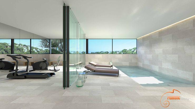 Proyecto 3D Realistic-design Gimnasios domésticos de estilo moderno