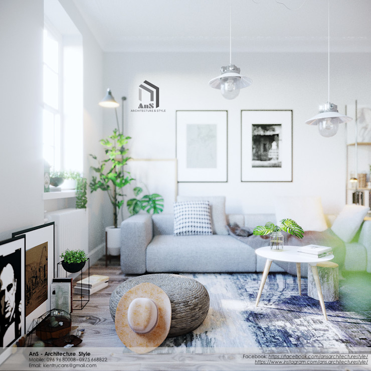 AnS - Architecture Style Scandinavian style living room