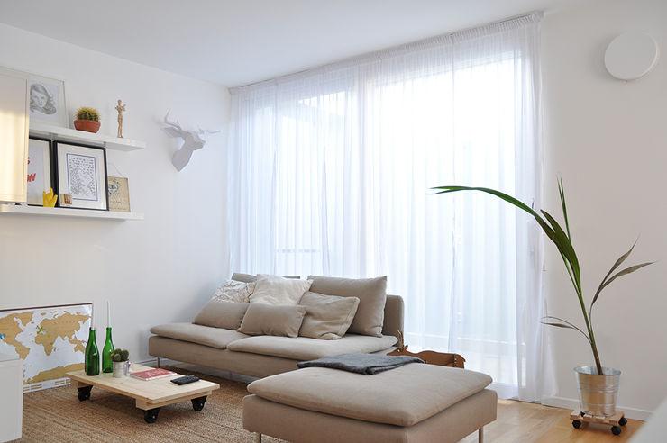 Appartamento di luce - Bolzano BGP studio Soggiorno in stile scandinavo