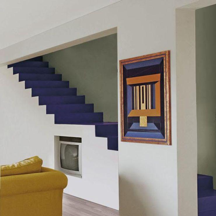 living Studio Greci Ingresso, Corridoio & Scale in stile moderno Blu