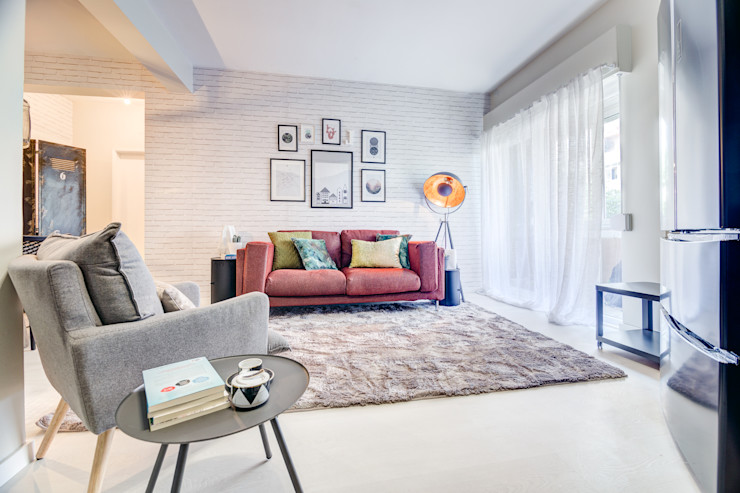 Santiago   Interior Design Studio Industriale Wohnzimmer