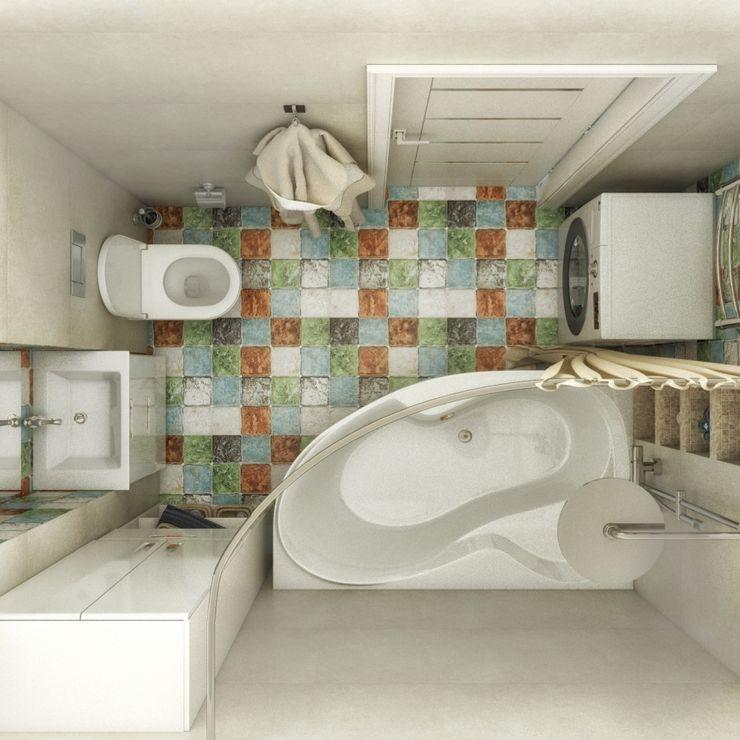 Ванная комната Гузалия Шамсутдинова | KUB STUDIO Ванная в классическом стиле