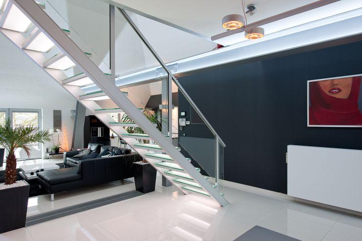 Escalera de tramo - aluminio y vidrio Rf Serveis Agudo S.L