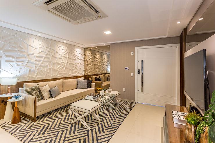 Sala de Estar Juliana Agner Arquitetura e Interiores Salas de estar modernas