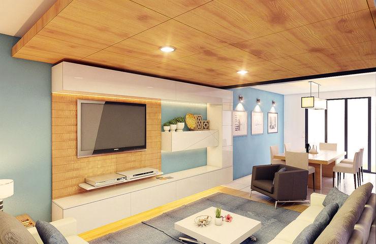 GRUPO ESCALA ARQUITECTOS Modern Living Room