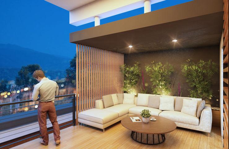 GRUPO ESCALA ARQUITECTOS Modern Terrace
