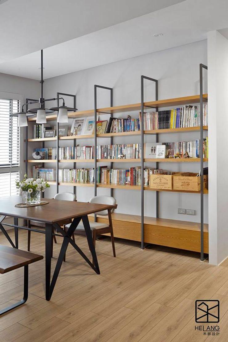 開放式鐵件櫃 禾廊室內設計 書房/辦公室 鐵/鋼