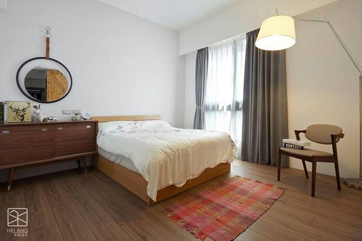 主臥 禾廊室內設計 臥室床與床頭櫃 實木