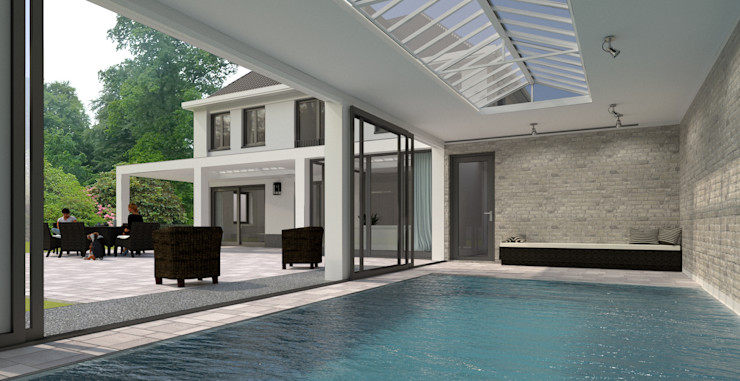Brand I BBA Architecten Pools im Landhausstil