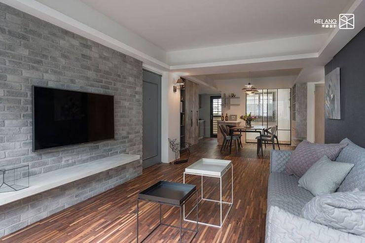文化石牆面 禾廊室內設計 Minimalist living room