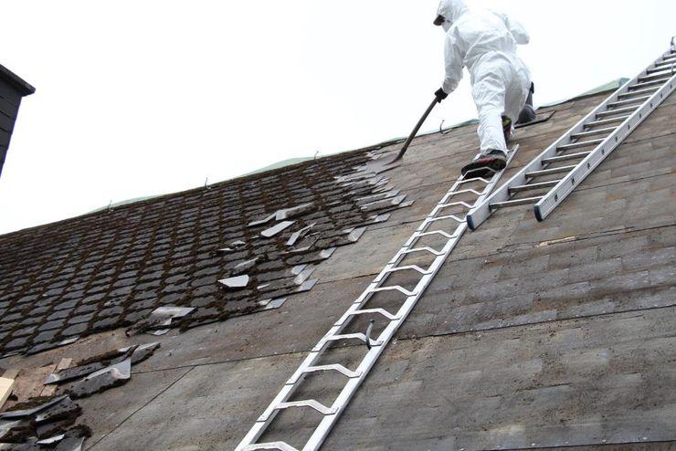 Asbestsanierung nach TRGS 519 in Bielefeld Senne - Dachdeckermeisterbetrieb Dirk Lange Dachdeckermeisterbetrieb Dirk Lange Satteldach