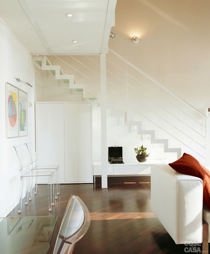 Appartamento 65 mq. DELFINETTIDESIGN Soggiorno moderno Legno Bianco