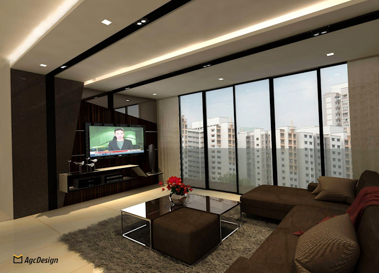 Sea Horizon Condo AgcDesign Modern living room
