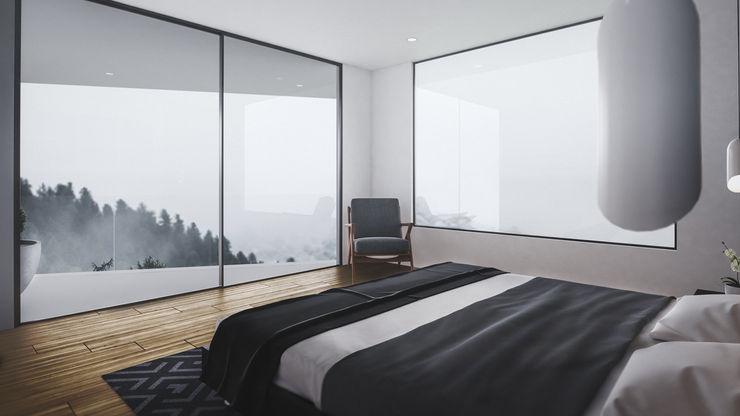 habitacion principal Adrede Arquitectura Habitaciones modernas Acabado en madera