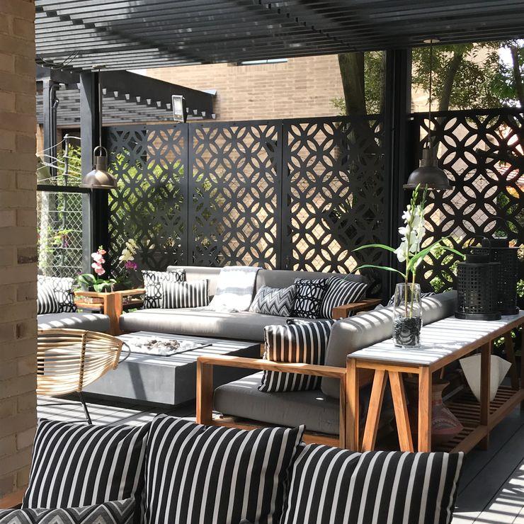 Ecologik Eclectic style balcony, veranda & terrace Black
