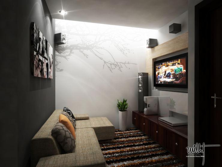 Sala de televisión homify Salas multimedia modernas