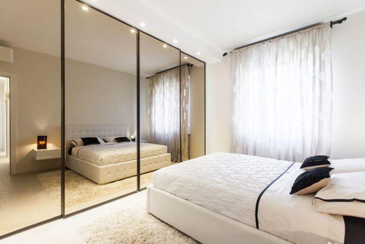 Un appartamento rinnovato da zero CLM Arredamento Camera da letto moderna
